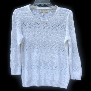 JONES OF NEW YORK SPORT WHITE SWEATER - SZ: M
